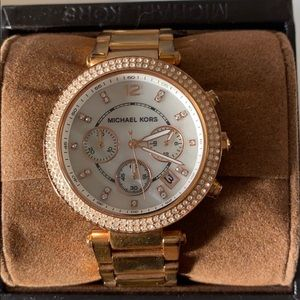 Rose gold Micheal kors watch